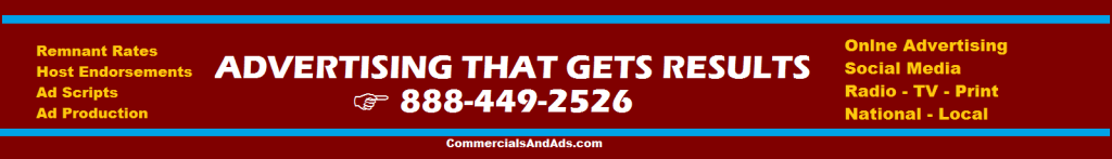 commercials and ads ADVERTISING